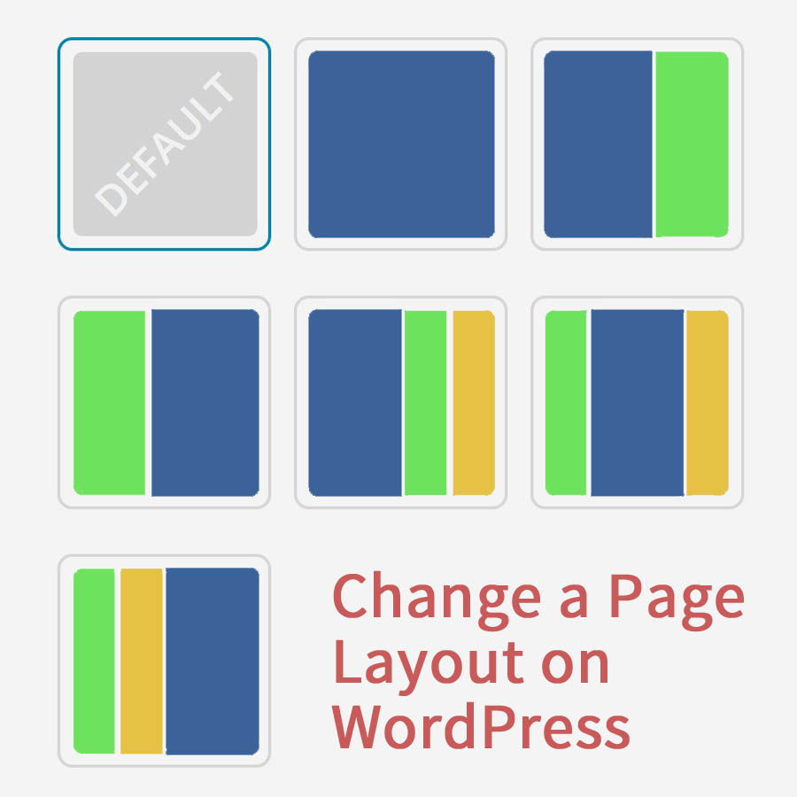 Change page layout WordPress website