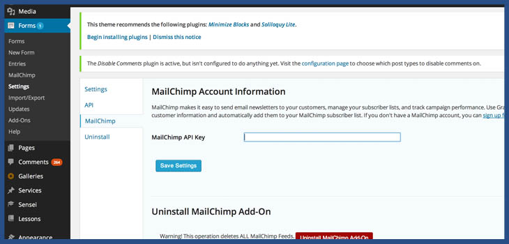 How to get an API Key in MailChimp