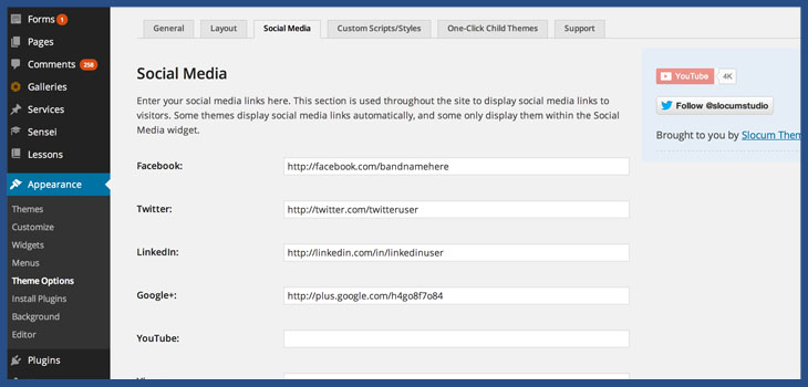 Add Social Media Buttons to WordPress