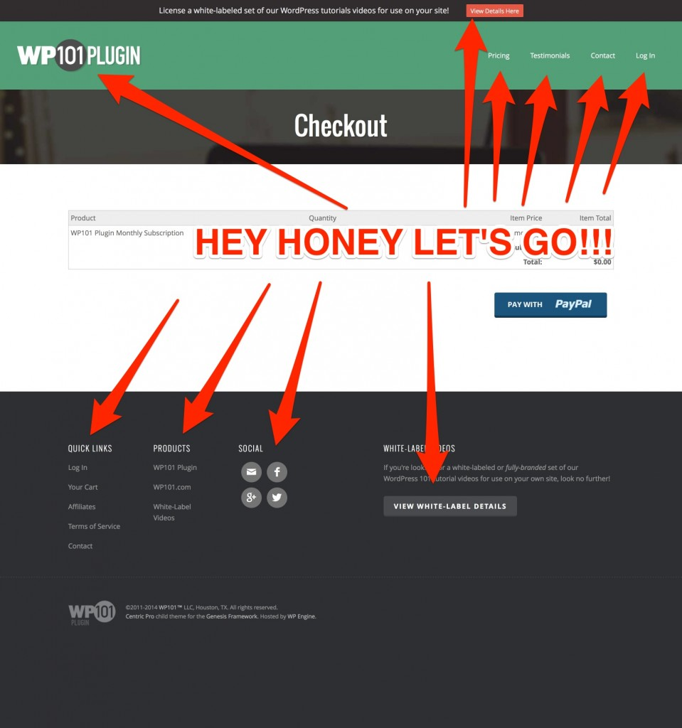 Tips And Tools For The Best Wordpress Landing Page Design Genesis Engine Diagram Wp 101 Checkout Example