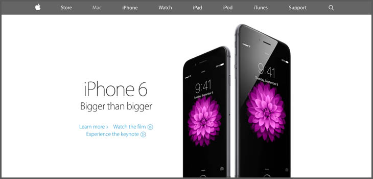 Apple Landing Page Design