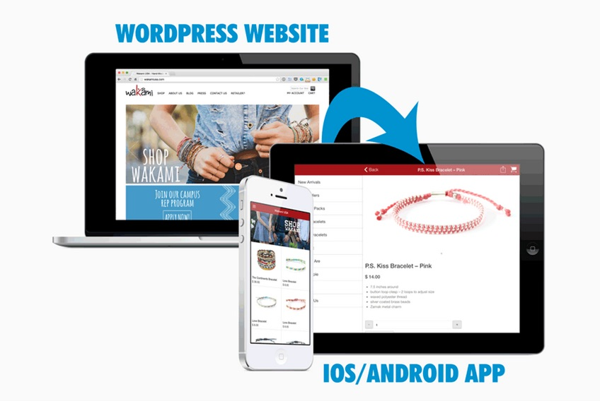 WordPress website to app