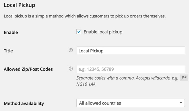 Local Pickup WooCommerce eCommerce