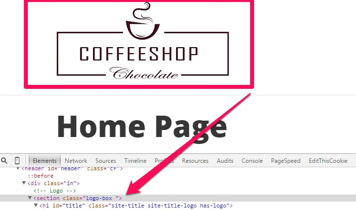 inspect element to find logo in css
